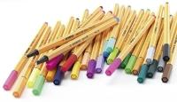 Ручка капиллярная линер зеленая неон 88/033